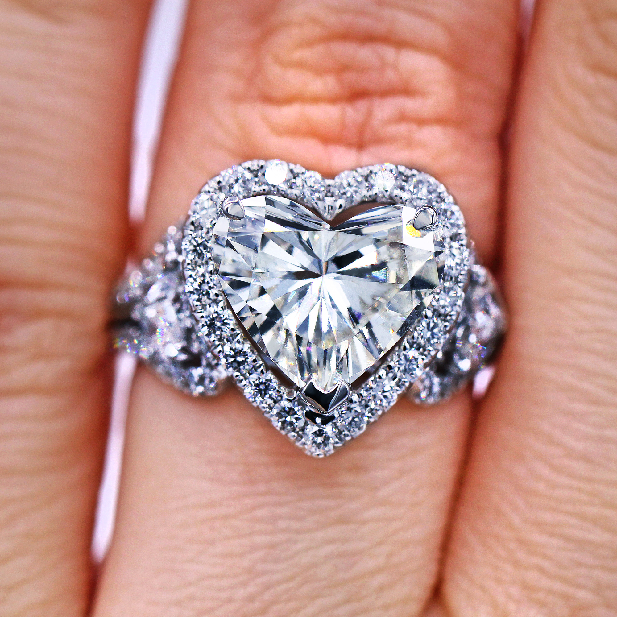 d17508800aee Certified 4.59 TCW heart shaped diamond ring - Luxury Watches ...