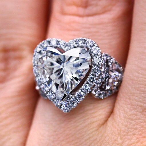 3.29 Ct Heart shape Diamond Engagement Ring