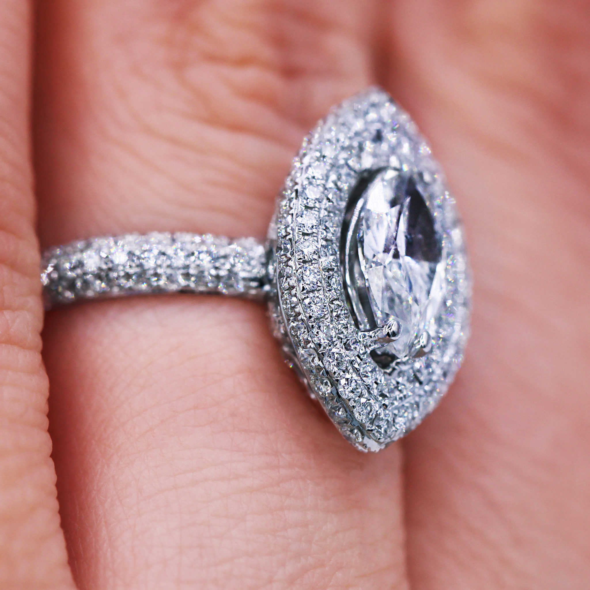 Eye of the Tiger Marquise Pave Engagement Ring - Luxury Watches ...