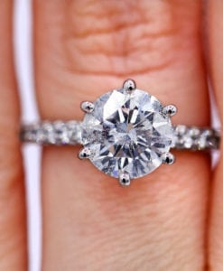 2.11 ct Brilliant Diamond Engagement Ring
