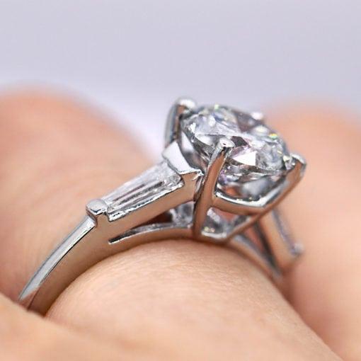 1.54 three-stone round classic engagement ring