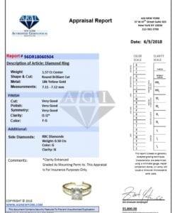 Intricate 1.57 Carat Round Diamond Engagement Ring